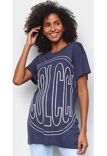Camiseta Colcci Big Logo Feminina - Feminino-Azul