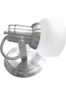 Spot Com Vidro Escovado Para 1 Lampada - Ref: Mf 450/1