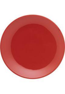 Prato Para Sobremesa Oxford Unni Red 19Cm