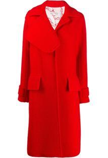 Victoria Beckham Casaco Com Lapelas Assimétricas E Textura - Vermelho