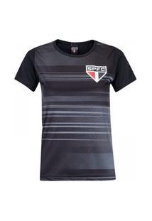 Camiseta São Paulo Agile Feminina - Preto