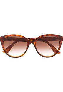 Gucci Eyewear Óculos De Sol Redondo Gg0631S - Marrom