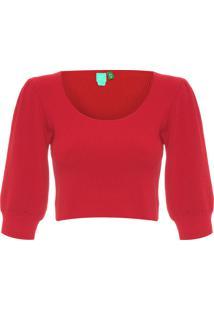 Blusa Feminina Tricot - Vermelho