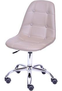 Cadeira Eames Botonê- Fendi & Prateada- 93X47X41Cm