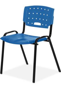 Cadeira Plastica Fit Azul Giobel - Azul - Dafiti