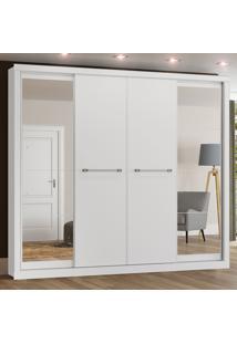 Guarda-Roupa 4 Portas Deslizantes Elegance D196-05 Branco Hp - Henn