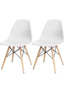 Kit 02 Cadeiras Decorativas Lyam Decor Eiffel Charles Branco. - Tricae