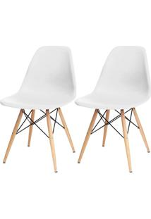 Kit 02 Cadeiras Decorativas Lyam Decor Eiffel Charles Branco