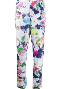 Moschino Paint-Effect Track Pants - Branco