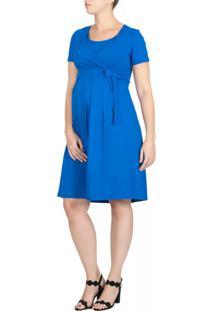 691ed59e48 Vestido Amamentacao Azul feminino