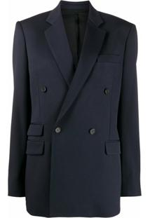 Stella Mccartney Double-Breasted Blazer Jacket - Azul