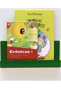 Organizador Quartinhos Porta Livros E Revisteiro De Parede Infantil Verde