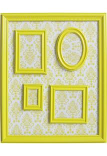 Porta Retratos Magnetico 46X57 Barroque Multiple Frame Amarelo