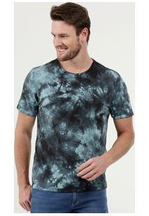 Camiseta Masculina Estampa Tie Dye Manga Curta Marisa