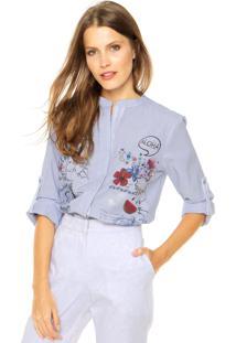 Camisa Desigual Plecol Azul