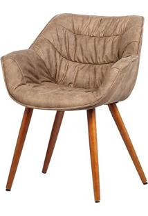 Cadeira Com Braco Bumpee Vintage Marrom - 37953 Sun House