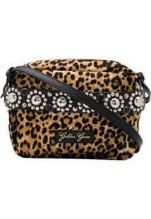 Golden Goose Snow Leopard Print Crossbody Bag - Neutro