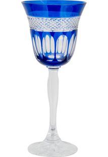 Taça De Cristal Lodz Para Vinho Ii De 170 Ml - Azul Egípcio