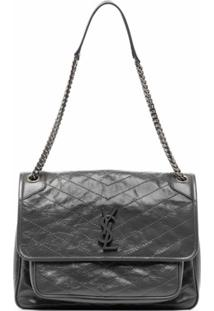 Saint Laurent Large Niki Shoulder Bag - Cinza