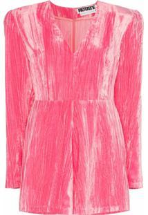 Rotate Macacão Adelina De Veludo - Rosa