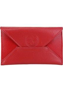 Carteira Couro Shoestock Envelope Feminina - Feminino-Vermelho