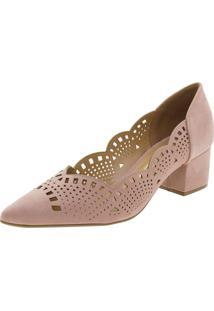 Sapato Feminino Salto Baixo Vizzano - 1220227 Rosa