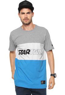 Camiseta Starter Especial Line Cinza/Branca