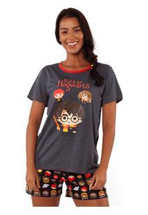 Pijama Manga Curta Harry Potter Adulto G
