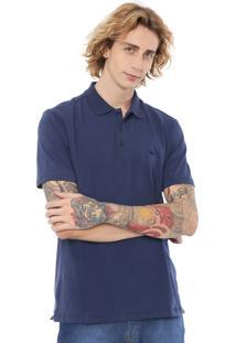 Camisa Polo Quiksilver Reta Lisa Azul