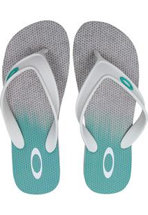 453dcfc5e33d5 Chinelo Oakley Wave Point Masculino - Masculino-Cinza+Verde