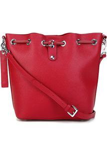 Bolsa Santa Lolla Shopper Risco Feminina - Feminino-Vermelho