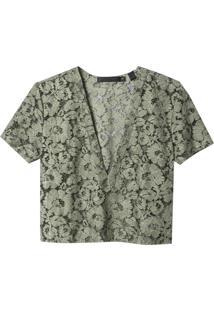 Camiseta John John Waves Verde Militar Feminina (Verde Militar, P)