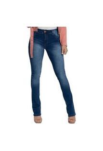 Calça Jeans Biotipo Cal Fit Estonada Azul