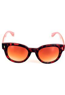 Óculos Solar Titânia Animal Print Com Haste Rosada