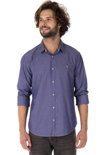 Camisa Side Walk Camisa Gravataria Azul Marinho