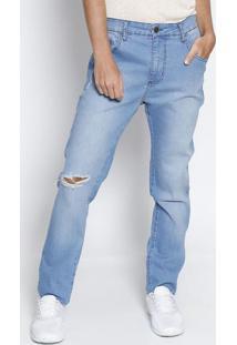 Jeans Alexandre Com Puídos - Azul Claroforum