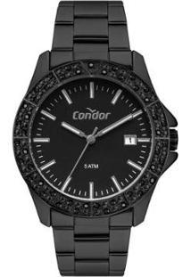 Relógio Condor Feminino Atemporal Analógico - Feminino-Preto