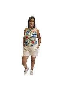 Blusa Crepe Linda D+ Gola Alta Verde (1005)