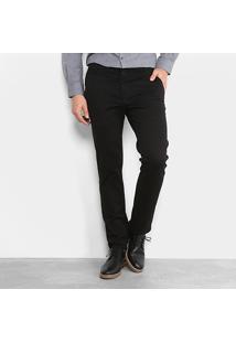 Calça Sarja Reta Ellus Color Power Straight Bolso Faca Masculina - Masculino-Preto