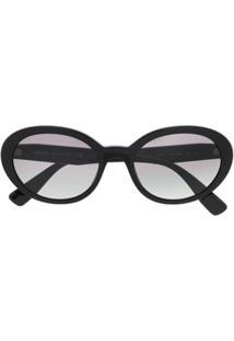 Miu Miu Eyewear Round Frame Sunglasses - Preto b3f0f43d02