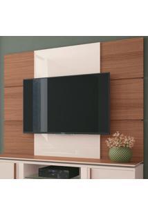 Painel Para Tv Até 70 Polegadas Level Marrom Nature E Off White