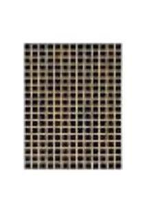 Tapete Marbella Pierry Retangular (100X150Cm) Preto E Creme