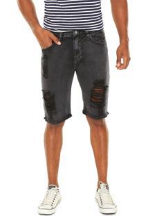 Bermuda Jeans John John Clássica Preta