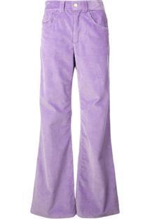 Marc Jacobs Calça Pantalona De Veludo Cotelê - Roxo