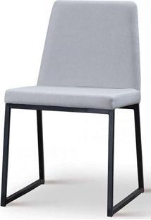 Cadeira Graty Cinza Base Preta - 50732 - Sun House