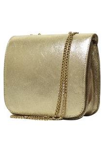 Bolsa Hendy Bag Couro Dourada