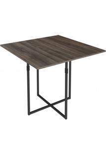 Conjunto De Mesa Com 4 Cadeiras Julia Móveis Brastubo Preto/Ameixa Negra/Preto 3D