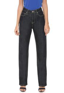 Calça Jeans Calvin Klein Jeans Reta Pesponto Preta