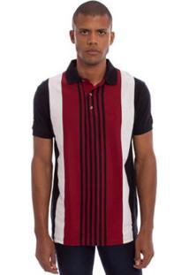 Camisa Polo Aleatory Listrada Australian Masculina - Masculino-Vinho