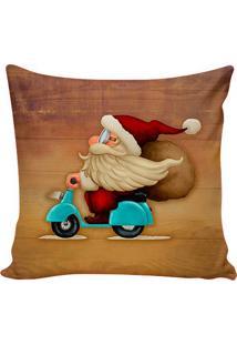Capa Para Almofada Papai Noel- Marrom & Vermelha- 42Stm Home